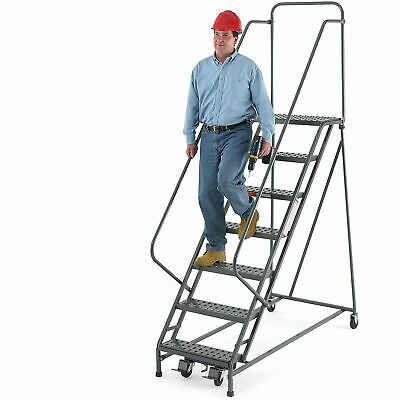 Details About Ega R217 Steel Ezy Climb Ladder W Handrails 10 Step 30 Wide Grip Strut Gray In 2020 Ladder The Struts Handrails