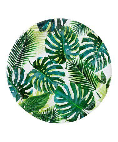 Palm Tree Paper Plates Set Of 36 Zulily Palm Plates Palm Leaf Plates Palm Leaves Print