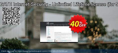 NETGATE Internet Security - Unlimited Lifetime license (for 5 PC) Coupon 40% discount code