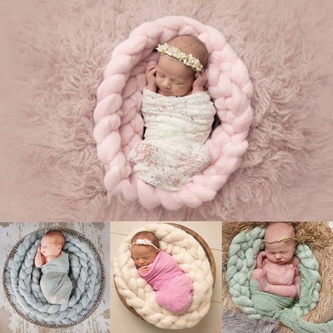 Newborn baby Photography Props Background Baby Photo Blanket wool Twist braid Basket Stuffer infant blanket Knitting Wool Filler. Yesterday's price: US $10.15 (8.32 EUR). Today's price: US $10.15 (8.37 EUR). Discount: 22%.