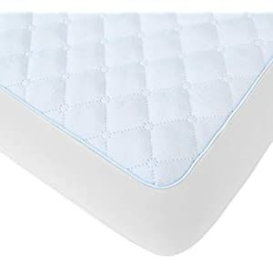 Bluesnail Waterproof Quilted Pack N Play Mattress Cover Fits All Baby Portable Mini Cribs Play Yards And Foldable Mattresses White Crib Bedding Crib Be In 2020 Pack N