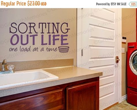Wall Decal Sorting Out Life One Load at a Time #2