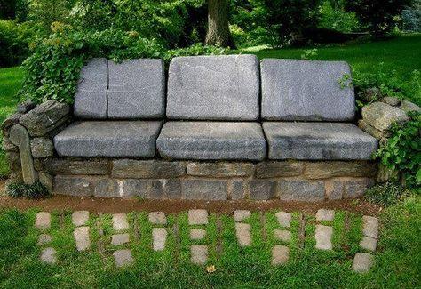 Déco fait main: Canapé extérieur en pierre | Zahrada a kytičky ...
