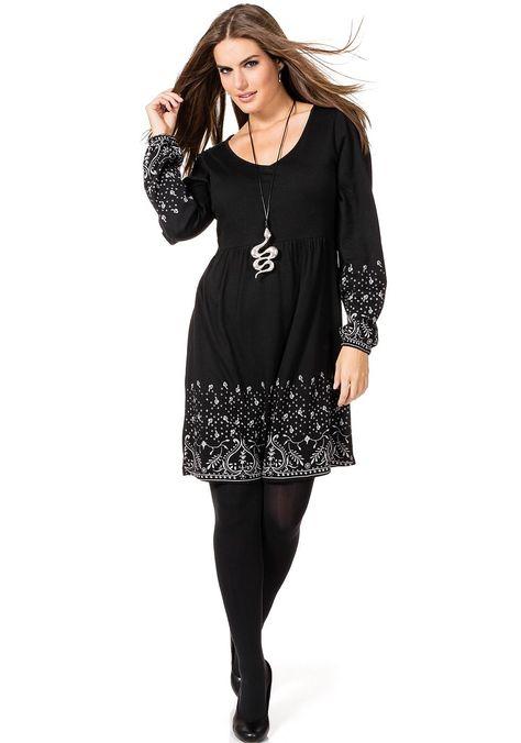 Typ , Shirtkleid,  Materialzusammensetzung , 50% Baumwolle, 50% Modal,  Länge , kurz,  Ausschnitt , Rundhalsausschnitt,  Ärmel , Langarm,  Saum , Gummizug am Ärmelsaum,  Gesamtlänge , Größenangepasste Länge von ca. 96 bis 102 cm,   ...