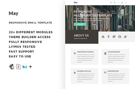 May  – Responsive Email template