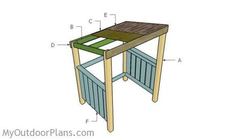 Grill Shelter Plans Myoutdoorplans Free Woodworking Plans And Projects Diy Shed Wooden Playhouse Pergola Bbq Bbq Shelter Ideas Bbq Gazebo Grill Canopy