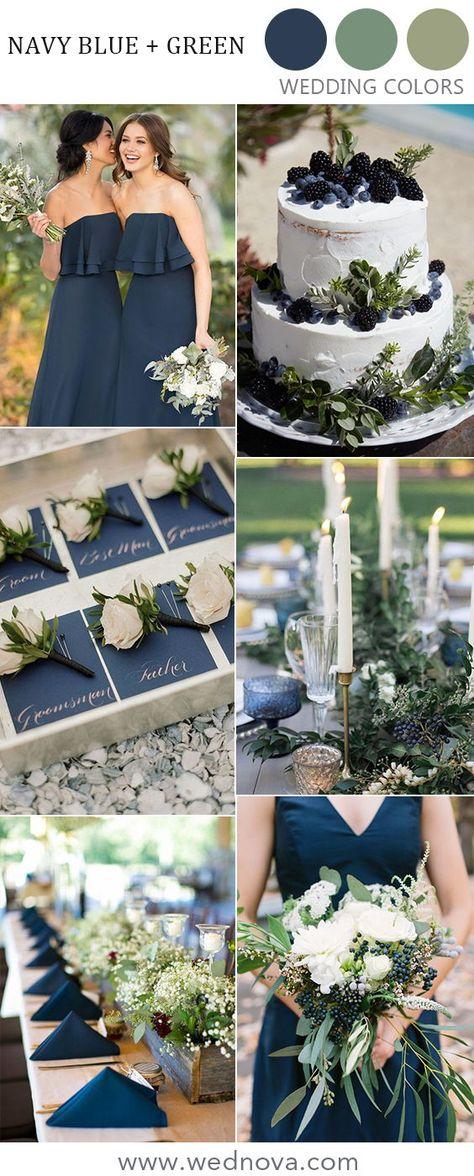 fall navy blue and greenery wedding color ideas #weddings #weddingdecor #rusticweddingideas #weddingideas #outdoorwedding #weddinginspirations #rusticwedding #navybluewedding