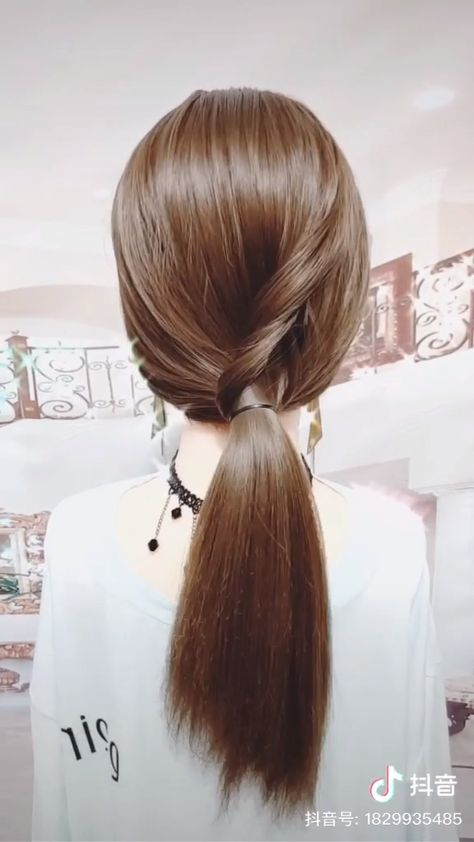 Another super easy ponytail, try it!
