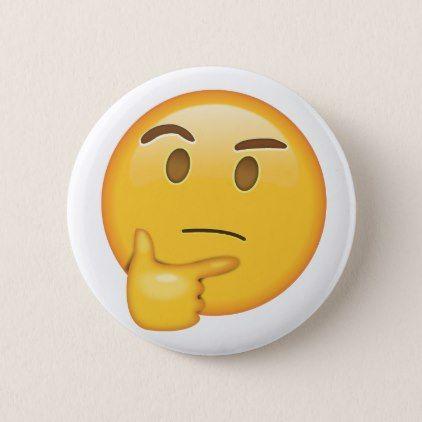 Thinking Face Emoji Pin Zazzle Com Emoji Pin Emoji Gifts Funny