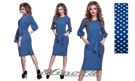 6ac92c51796 Платье №378-1-электрик - Платья размеры 42-48 - Minova интернет-магазин