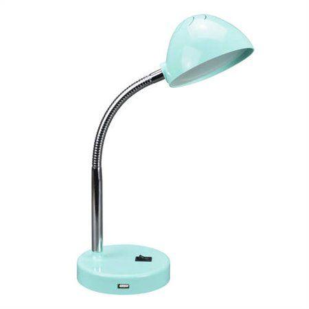 Mainstays 3 5 Watt Led Desk Lamp With Usb Port Metal Gooseneck Black Walmart Com In 2020 Desk Lamp Lamp Led Desk Lamp