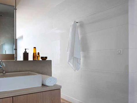 Salle De Bain Zen Avec Lambris PVC Blanc Aspect Brillant