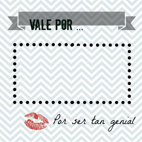 18 Ideas De Vale Por Vales De Amor Vales De Regalo Bonos De Regalo