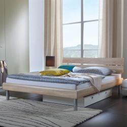 Hasena Soft-Line Bett in verschiedenen Farben, Füße Soko 20 cm und Kopfteil Nuo in Bettfarbe HasenaH