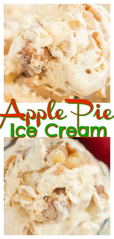 Apple Pie Ice Cream (Simple & No Churn!) • The Gold Lining Girl