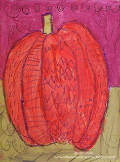 Adventures of an Art Teacher: 1st Grade Pumpkins