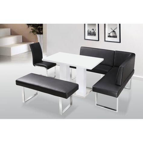 Excellent Havilland 4 Piece Dining Set In 2019 Corner Dining Table Unemploymentrelief Wooden Chair Designs For Living Room Unemploymentrelieforg