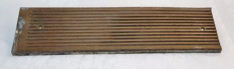 Vintage C1920s Heavy Solid Bronze Threshold, Hard to Find