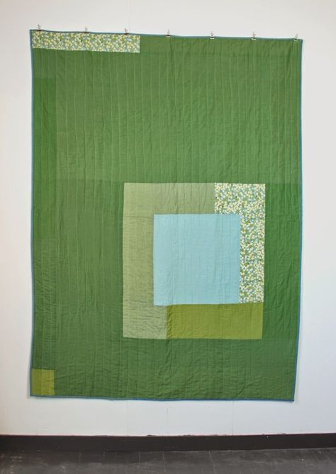 mūsu quilts: Quilt. Pea green and aqua square. Inspired by Jose...