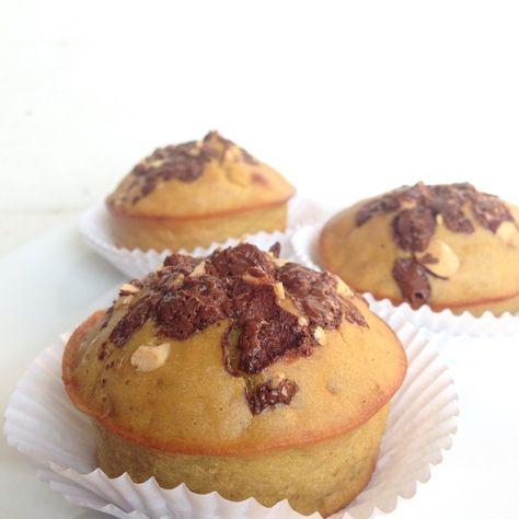 Muffins de banano, quinoa y whey protein, en Gastroglam blog.