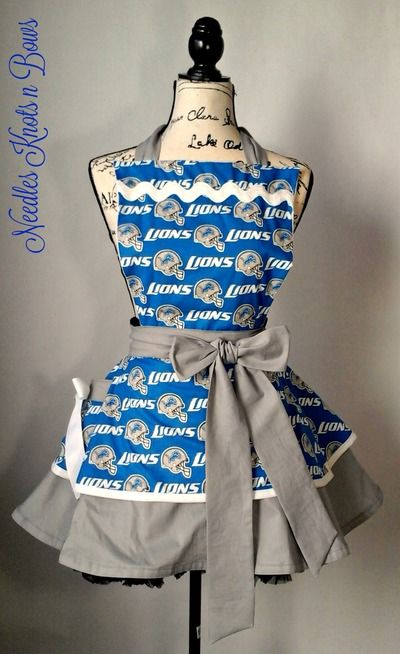 76e8e268 Detroit Lions Womens Apron, Womens Aprons, Football, Game Day from ...