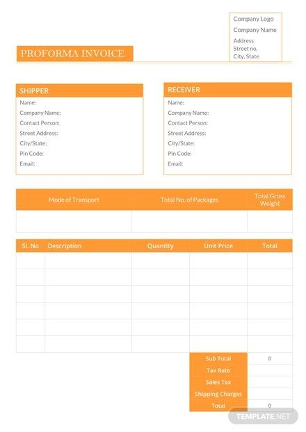 97 By Pro Forma Invoice Samples Resume Format