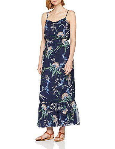 S Oliver Damen 14 806 81 3244 Kleid Blau Dark Steel Blue Aop 58a9 38 Kleider Damen Modestil