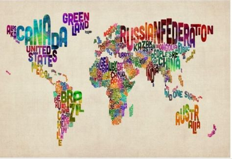 carte du monde art design Carte du monde Vintage plexiglas design de Michael Tompsett