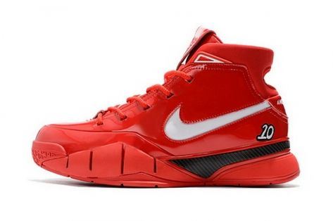 700304fef55c Shop Mens Nike Zoom Kobe 1 Protro Demar Derozan PE Red White-Black Shoes