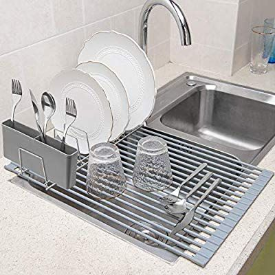 Monokit Over Sink Dish Drying Rack Roll Up Large 20 47 Inch