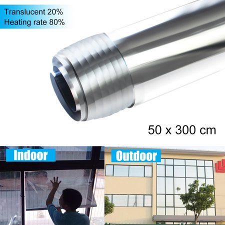 20 Mirror Silver Solar Reflective Window Film One Way Tint Tinting 50cm X 300cm Window Film Tinted Mirror