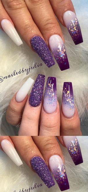 Nails Nailart Naildesigns Nailcolors Nail Design Ideas Ombrenails Purple Nail Designs Purple Acrylic Nails Purple Nails
