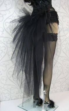 Upcycle an old bra to a fringe top in dust we trust black black burlesque tutu bustle button on solutioingenieria Images