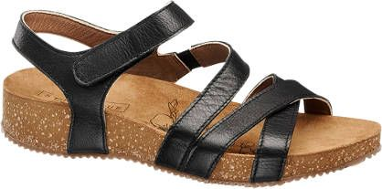 LEDER 34,90 Sandale von 5th Avenue in schwarz DEICHMANN