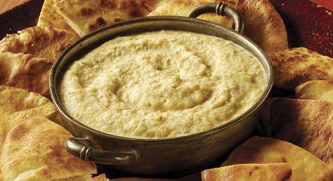 Ember-Roasted Onion and Garlic Dip with Crispy Pita