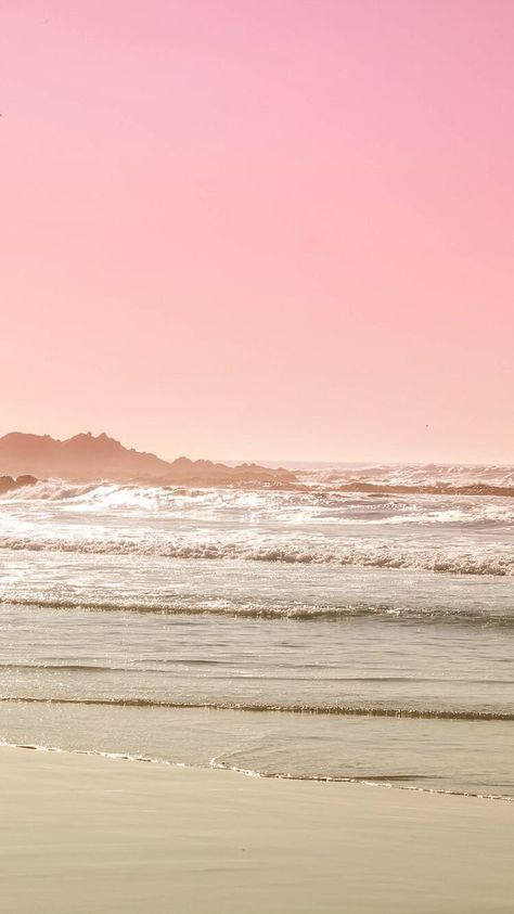 Iphone And Android Wallpapers Pink Beach Landscape Wallpaper For Iphone And Android Beach Wallpaper Iphone Landscape Wallpaper Beach Wallpaper