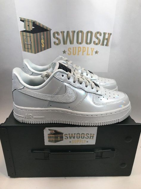 277e77253 Womens Nike Air Force 1 '07 LX Iridescent Pack Size 7 898889-100 #Nike  #LowTop