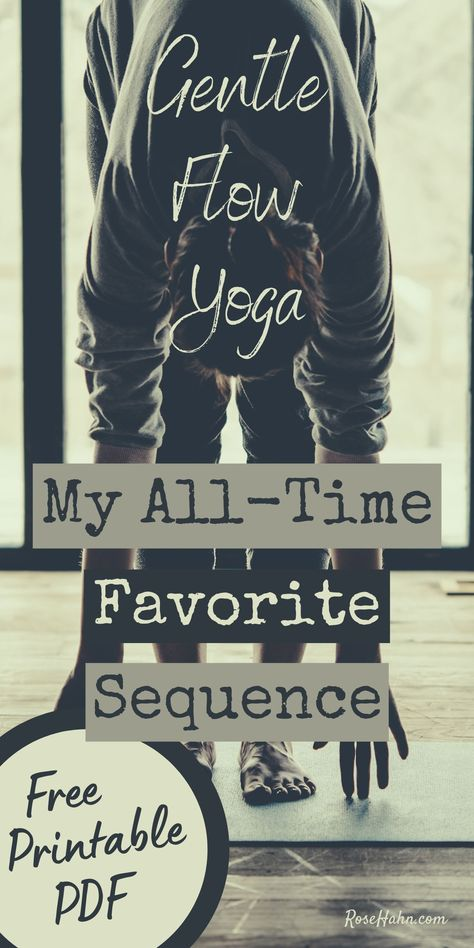 Try this gentle flow yoga sequence for a well-rounded practice. In my 25 years of practice, I haven't found a more complete, balanced flow than this one. Restorative Yoga Sequence, Yoga Flow Sequence, Yoga Sequences, Vinyasa Yoga, Yoga Moves, Yoga Exercises, Gentle Yoga Flow, Home Yoga Practice, Yoga At Home