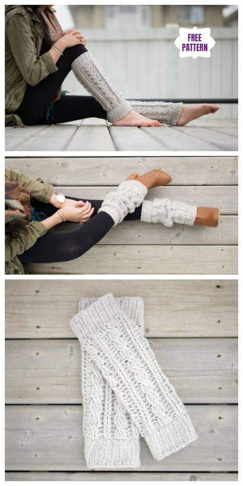 Crochet Cabled Leg Warmer Free Crochet Patterns – Crochet and Knitting Patterns Crochet Leg Warmers, Crochet Boot Cuffs, Crochet Boots, Knitting Socks, Crochet Clothes, Crochet Slippers, Crochet Boot Socks, Crochet Cardigan, Knitting Stitches