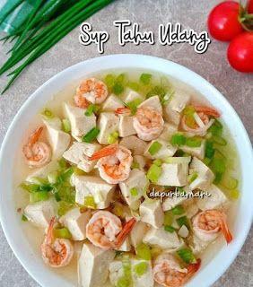 Sup Tahu Udang Di 2020 Resep Masakan Resep Masakan Jepang Resep Sup