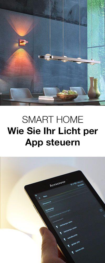 Smart Home Wie Sie Ihr Licht Mit Dem Handy Oder Tablett Steuern Jetzt Mehr Erfahren Uber Intelligente Lichtlosungen Lampen Und Leuchten Licht Kuchenlampen