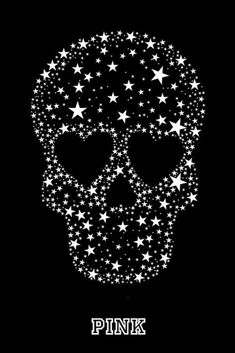 Starry skull phone wallpaper