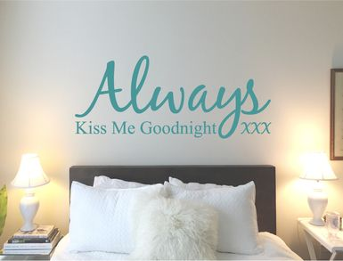 Always kiss me goodnight wall sticker decal in 2019 | Wall ...