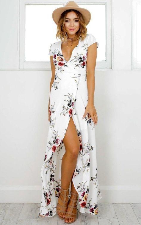 5b449088c311a You Like Me Too Much Maxi Dress In White Floral | Prom Dresses | Dresses,  Fashion, White maxi dresses