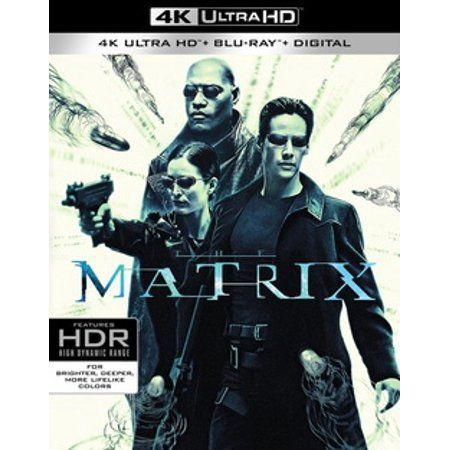 The Matrix 4k Ultra Hd Blu Ray Walmart Com In 2021 Blu Ray Matrix Film Genres