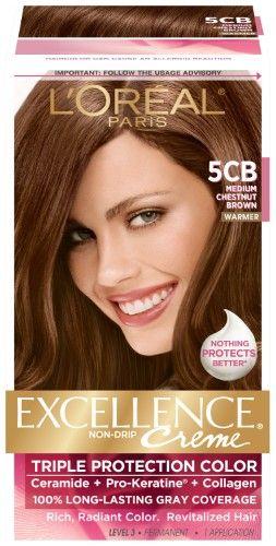 L Oreal Paris Excellence Creme 5cb Medium Chestnut Brown 1 Kit Hair Color Brown Chestnut Loreal Paris Loreal