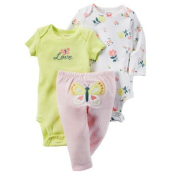 Carters Baby Girls Little Blooms Layette Set, Girl's, Size: 9 Months, Pink