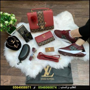 شنط لويس فيتون نسائي درجه اولى مع شوز و طقم اكسسوار و عطر هدايا هنوف Vuitton Louis Vuitton Louis