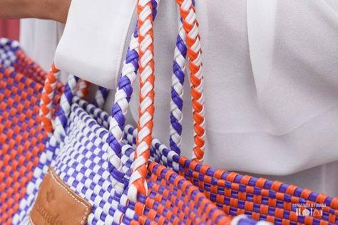 Xcaanda Bolso Tejido Outfits Y Colores Brillantes