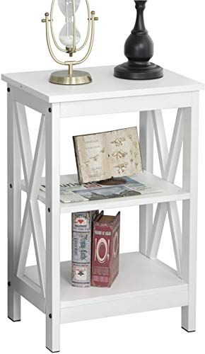 The Soges End Table Coffee Table Night Stand Side Table Sofa Table 3 Tier Shelf White Dx 240a Xw Online Shopping In 2020 End Tables Nightstand Modern Shelving